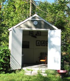 DIY Lowes garden shed...http://purestylehome.blogspot.com