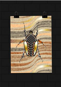 This beetle was designed with the inspiration of Africa,bugs,patterns and textures. Natural Curiosities, African Design, Beetle, Bugs, Texture, Patterns, Painting, Inspiration, Art