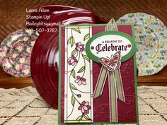 I made two cards with the new Graceful Glass Designer Vellum and the Painted Glass stamp set. I used Granny Apple Green, Gorgeous Grape, Rich Razzleberry, and Garden Green cardstock.