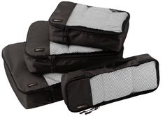 Amazon.com: AmazonBasics 4-Piece Packing Cube Set - Small, Medium, Large, and Slim, Black: Clothing