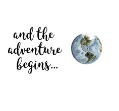 ••and the adventure begins...••  {lettering}