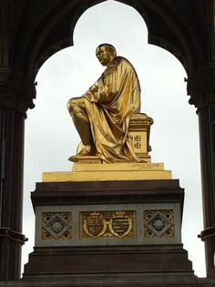 Prince Albert Memorial Statue in Hyde Park, London. Queen Victoria had this erected in memorial of her husband Prince Albert after he died.