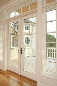 exterior french door replacement for back sliding door with bronze hardware - Outside Patio Doors