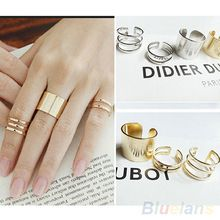 3Pcs/Set Fashion Top Of Finger Over The Midi Tip Finger Above The Knuckle Open Ring 01VW 35P5(China (Mainland))