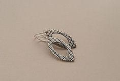 Fine silver/sterling silver earrings by Jill Endicott
