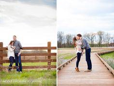 © Nicole Dixon Photographic Columbus Ohio Outdoor Engagement Session autumn fall farm