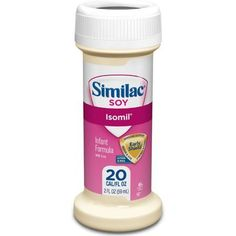 Similac Isomil Soy, for Fussiness and Gas Formula 2 Fl Oz Ready to Feed 48 Bottles