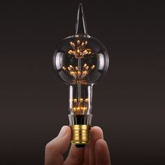 Unique LED Edison Bulb : 3W LED Edison Alien Fireworks Light Bulb – Light with Shade