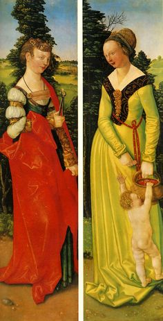 Sts. Dorothy and Apollonia from the St.Sebastian Altar by Hans Baldung, 1507 from Reinette: German Style from 1468-1588
