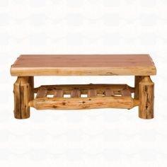 Fireside Lodge Furniture Cedar Open Coffee Table