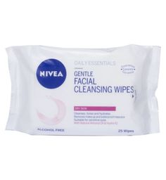 Nivea Daily Essentials Gentle Facial Cleansing Wipes For Dry Skin - Boots Gentle Facial Cleanser, Facial Cleansing, Face Cleanser, Dry Face, Face Skin Care, Face Wash, Makeup Wipes, Skin Cleanse, Facial Care