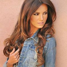 Caramel highlights on dark brown hair pictures
