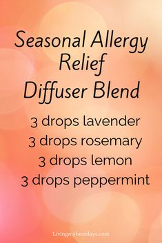Young Living 692358142703580593 - relief Relief acupressure points Relief cough Relief essential oils Relief for adults Source by gabrielagoodall Essential Oils Allergies, Essential Oil Diffuser Blends, Doterra Essential Oils, Young Living Essential Oils, Young Living Oils For Allergies, Essential Oil Recipies, Diabetes, Seasonal Allergies, Diffuser Recipes