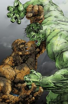 The Hulk vs The Thing  Auction your comics on http://www.comicbazaar.co.uk