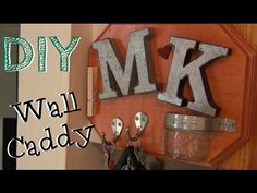 Personalized Wall Caddy ♥ DIY Gifts - YouTube