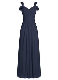 ALAGIRLS Long Off The Shoulder Bridesmaid Dress Chiffon E...