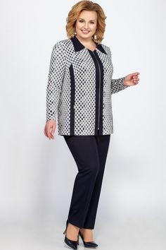 Casual Work Wear, Classy Work Outfits, Blouse Pattern Free, Church Suits And Hats, Mother Of The Bride Suits, Plus Size Sewing, Womens Dress Suits, Hijab Chic, Over 50 Womens Fashion