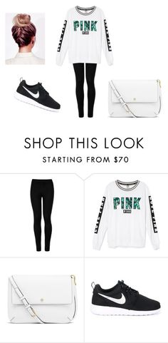 """""""Untitled #366"""" by itsveronica12 ❤ liked on Polyvore featuring Wolford, Victoria's Secret, Tory Burch and NIKE"""