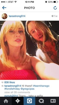 Tara Strong and Gregory Michael Cipes #FondleFriday