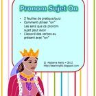 Included in this file are two single page printables which students can use to practice distinguishing when the use of the subject pronoun