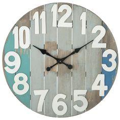 "CBK Oversized 28.88"" Slatted Wall Clock"