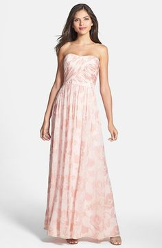 ERIN erin fetherston Rose Strapless Chiffon Gown | Nordstrom