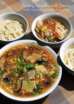 Beijing Noodles with Sauce | Classical comfort  with super fresh sauce of pork, egg and mixed veggies #Chinese