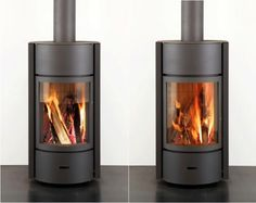 Another model by Belgian company Stuv is available in the US. The Stuv 30 Wood Stove has a unique multi-function glass and steel door that can operate in three positions: open glass, closed glass or closed steel to slow the burn; $5,495 through dealers in the US, including AJ Fireplaces.