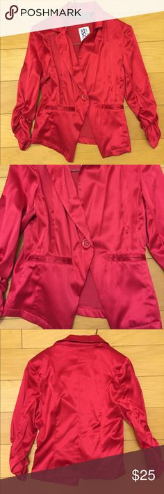 """Last Kiss"" red satin short jacket size small NWT ""Last Kiss"" red satin short jacket size small NWT Last Kiss Jackets & Coats"