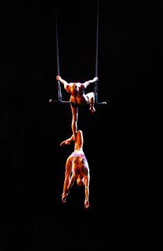 "The art of trust. ( ""O"" by Cirque du Soleil )"