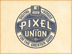 p2 union cut 20 Stylish Retro Logos | Inspiration