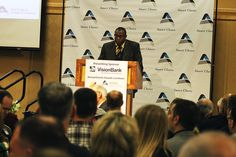 Iowa State graduate and 2015 NCAA wrestling champion Kyven Gadson was the keynote speaker at Thursday's Ames Chamber awards. Photo by Sarina Rhinehart/Ames Tribune  http://amestrib.com/news/ames-chamber-honors-community-leaders