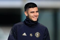 Andreas Pereira of Man Utd smiles during a training session ahead of their UEFA Champions League Round of 16 Leg match against Paris Saint-Germain at the Aon Training Complex on February Get premium, high resolution news photos at Getty Images Manchester England, Manchester United, February 11, Paris Saint, Uefa Champions League, Saint Germain, Lionel Messi, Soccer Players, Appreciation
