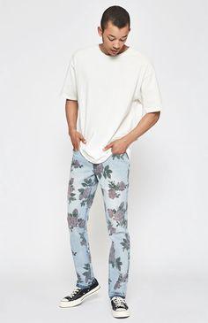 989a951a2b78 PacSun Slim Comfort Stretch Rose Print Jeans by PacSun