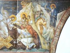 The frescoes of the cathedral Protata in Kars, Athos. Life Of Christ, Orthodox Icons, Holi, Cathedral, Painting, Ikon, School, Greek, Sacred Art