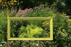 garden art from junk | Garden Art/Garden Junk/Garden Decor / Use a picture frame to highlight ...