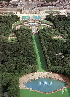 Aerial View of Versailles and the Park
