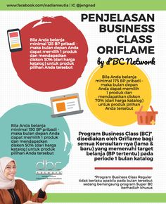 Penjelasan Business Class Oriflame by Nadia Meutia