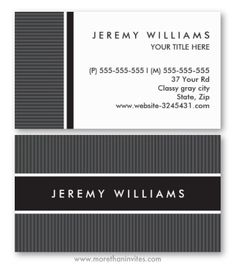 Modern, dark gray and black personal profile or business card. Generic, classy design, great for an attorney or accountant.