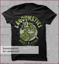 lagoonatics t-shirts Designed By Heartjack Geek Shirts, Shirt Designs, Geek Stuff, Product Launch, Graphics, Tees, Mens Tops, T Shirt, Fashion