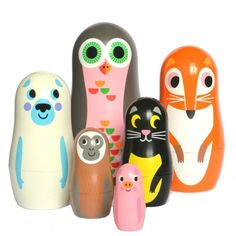 OMM Design - Studio Matroyshka Nesting Animals Series 2