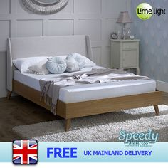 Limelight Bianca - Fabric /wooden bed Frame