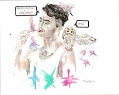Daniel Radcliffe,watercolors