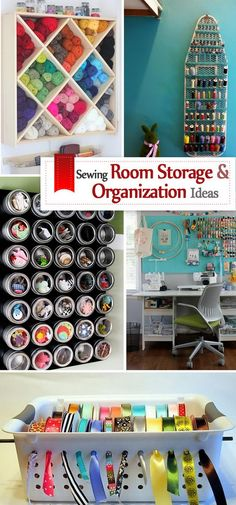 Sewing Room Storage And Organization Ideas.