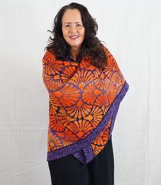 Ravelry: VerstrickteKunst's Tuch/shawl Fächerblumen (Scaevola)