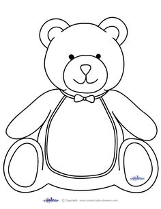 Take a look at lots of free baby shower ideas for a Teddy Bear theme. You'll find original teddy bear shower games, decoration ideas, free printables, food ideas, teddy bear cakes and lots more. Teddy Bear Outline, Teddy Bear Template, Teddy Bear Drawing, Teddy Bear Patterns Free, Teddy Bear Crafts, Teddy Bear Day, Teddy Bears, Teddy Bear Coloring Pages, Cool Coloring Pages