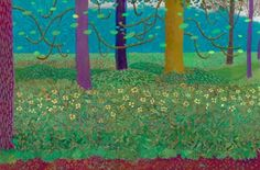 David Hockney. Under the Trees, 2010-2011