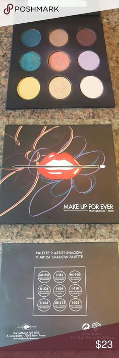 Make up forever artist 3 palette **SALE** ** FLASH SALE** Very colorful and pigmented high quality eyeshadows. Just cleaninh out my collection and dont reach for the brighter colors much. Used once. Makeup Forever Makeup Eyeshadow