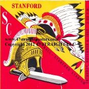 Football Drink Coasters-ceramic drink coasters. USC vs. Stanford football ticket coasters. #47straight