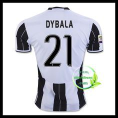 Fotballdrakter Juventus DYBALA #21 Hjemmedraktsett 2016-2017